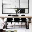 Le-Fashion-Blog-Australian-Blogger-Brooke-Testoni-Bright-Minimal-Home-Ornate-Light-Wood-Dining-Table-Grid-Wall-Mirror-Mid-Century-Black-Chairs-Side-Bench