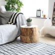 Tree Trunk Side Table: Contribute Immense Natural Accent | Homesfeed in Wood Stump Side Table
