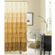 Extra Long Brown Shower Curtainincredible brown to white ruffled extra long shower curtain added