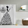 Chandelier Print Shower Curtain