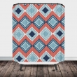 Coral And Navy Blue Shower Curtain2000 X 2000