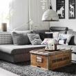 Geräumiges Kühles Wohnzimmer Grau Kupfer eine alte truhe als wohnzimmertisch kiste truhe tisch