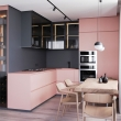 pink-color-small-open-concept-kitchen