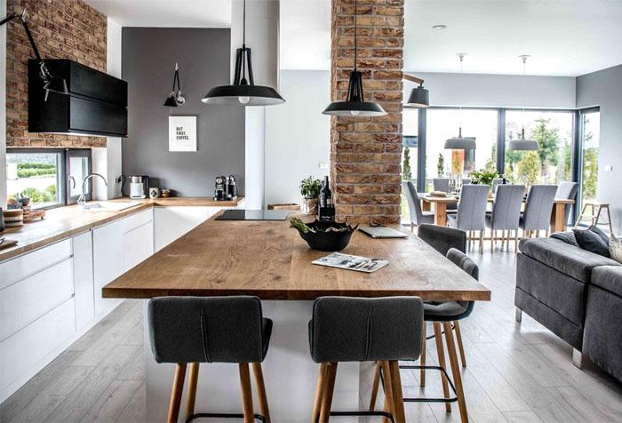 Kaj je odprti tloris 40 udovitih primerov ambienti - L shaped living dining room design ideas ...