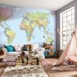 Fotobehang Wereldkaart Posters Home decor Pinterest Design of world map wall decor