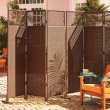 outdoor room dividers privacy screens Best of Nouvelle 3 Panel Resin Wicker Privacy Screen Pinterest