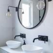 artistic chevron tile bathroom and 32 Wonderful Charcoal Bathroom Accessories Wallpaper
